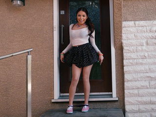 Straight a schoolgirl