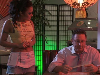 2 waitresses and a guest