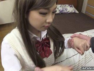 Asian girl, Maki Horiguchi gargled dick, uncensored