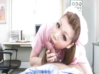 Cute nurse Ayumi Kobayashi makes a housecall with an sudden result