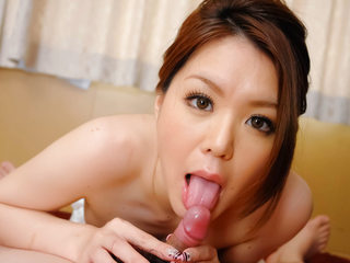 China Mimura gives a great rim job before sucking a jizz-shotgun and eating cum.